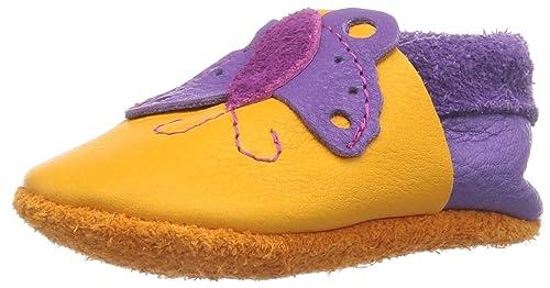 Pololo Butterfly mango/lilac - Zapatillas de casa de cuero niña, color amarillo,