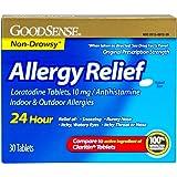GoodSense Allergy Relief Loratadine Tablets, 10 mg, Antihistamine, 30-Count