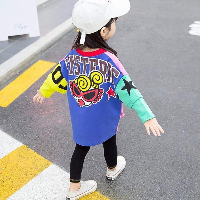 2748eca48819c 水田亜木 ワンピース ドレス キッズ こども 秋 長袖 落書き風 女の子 (100cm)