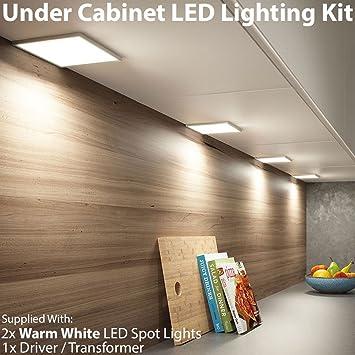 2 x 6 W LED cucina piatto cabinet pannello illuminazione ...