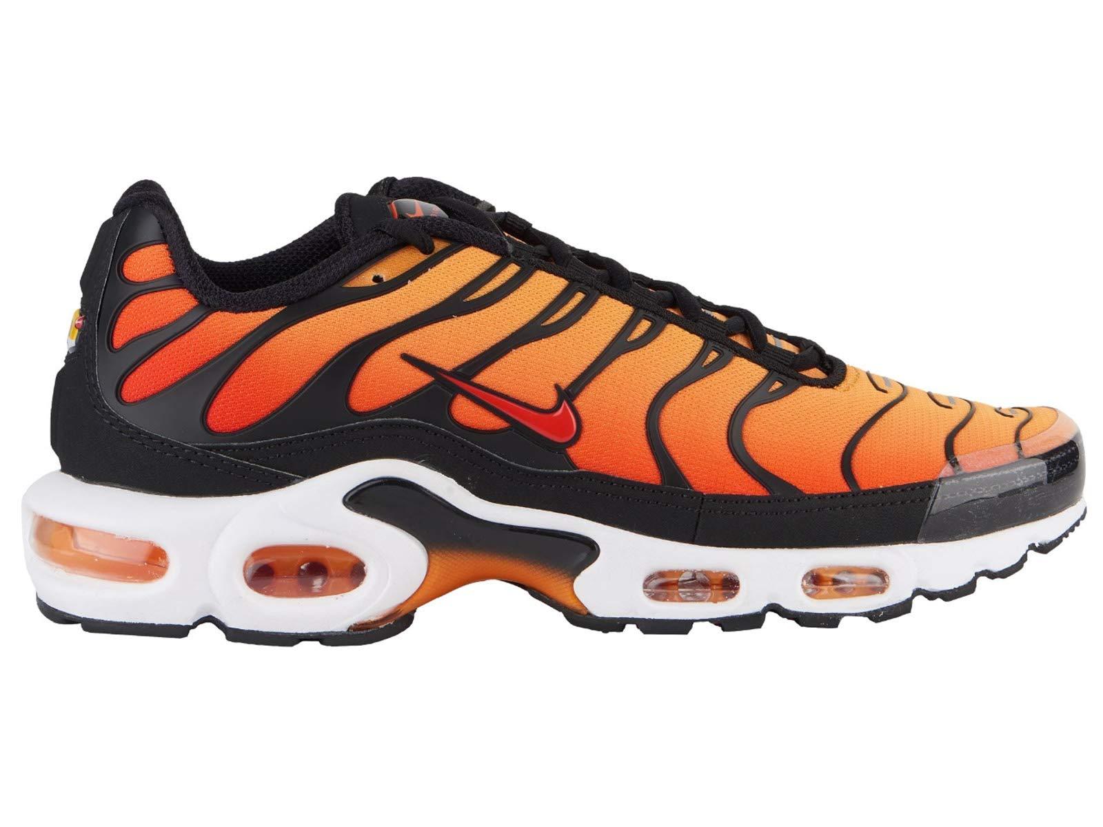 pretty nice f3668 9a51e Nike Men s Air Max Plus Black Pimento Bright Ceramic Resin Mesh Running  Shoes