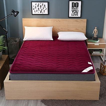 Tatami Floor Mat,Traditional Japanese Futon Flannel Plenty Thick Futon  Mattress Topper B 90x200cm
