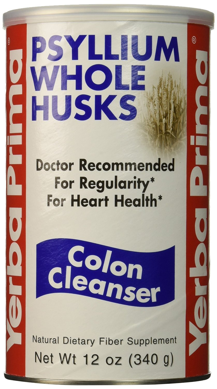 Yerba Prima Psyllium Whole Husks Colon Cleanser (Pack of 4)