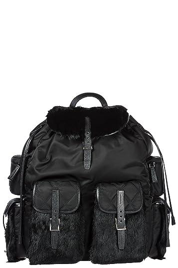 36924d84ee6f31 ... coupon code prada mens nylon rucksack backpack travel black 70550 d1f3e