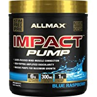 ALLMAX Nutrition - IMPACT Pump - Non-Stim Pump Pre-workout - Blue Raspberry - 360 Gram