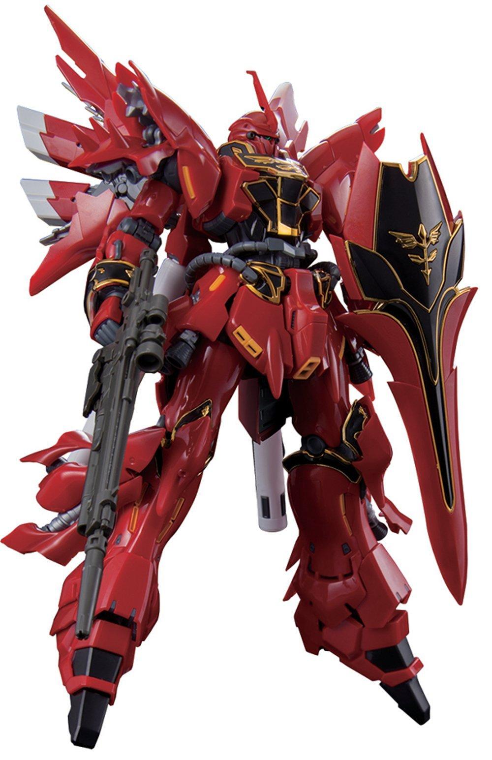 Bandai Hobby RG MSN-06S Sinanju Gundam UC Action Figure (1/144 Scale)