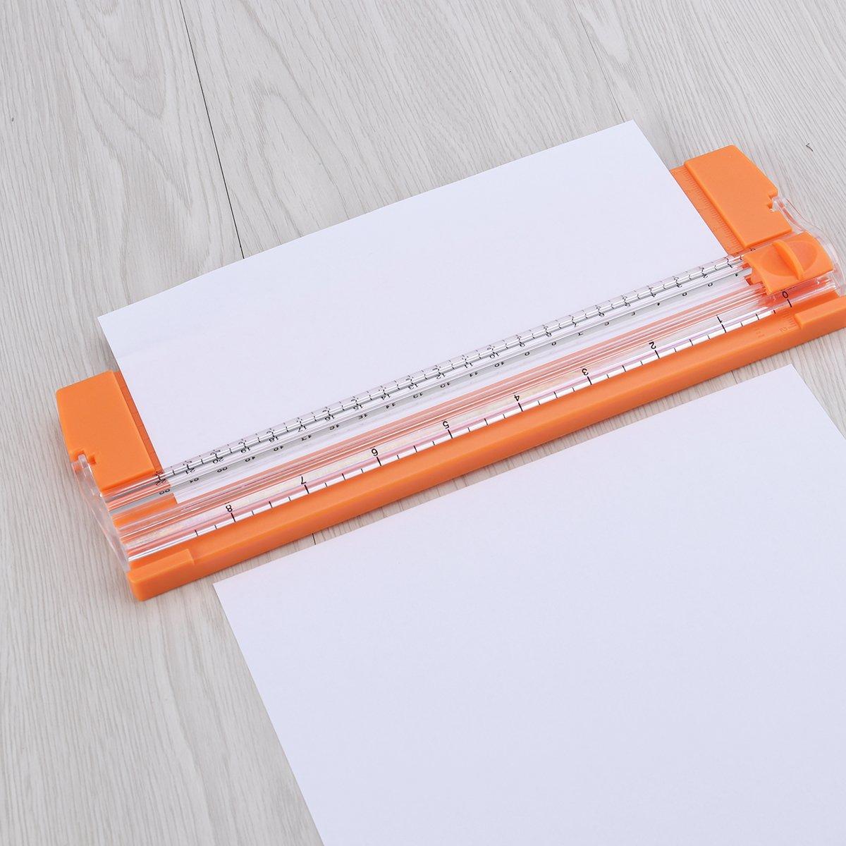 Zuf/ällige Farbe ROSENICE A5 Papierschneider Tragbare Papier Trimmer mit Rutsche Lineal