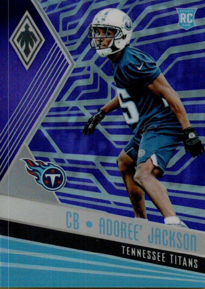 Football NFL 2017 Phoenix Purple #150 Adoree' Jackson Rookie 18/149 Titans Panini