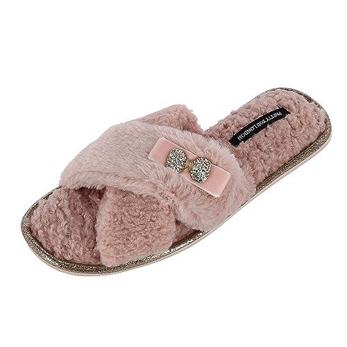 Pretty You - Zapatillas de Estar por casa para Mujer Rosa Rosa: Amazon.es: Zapatos y complementos