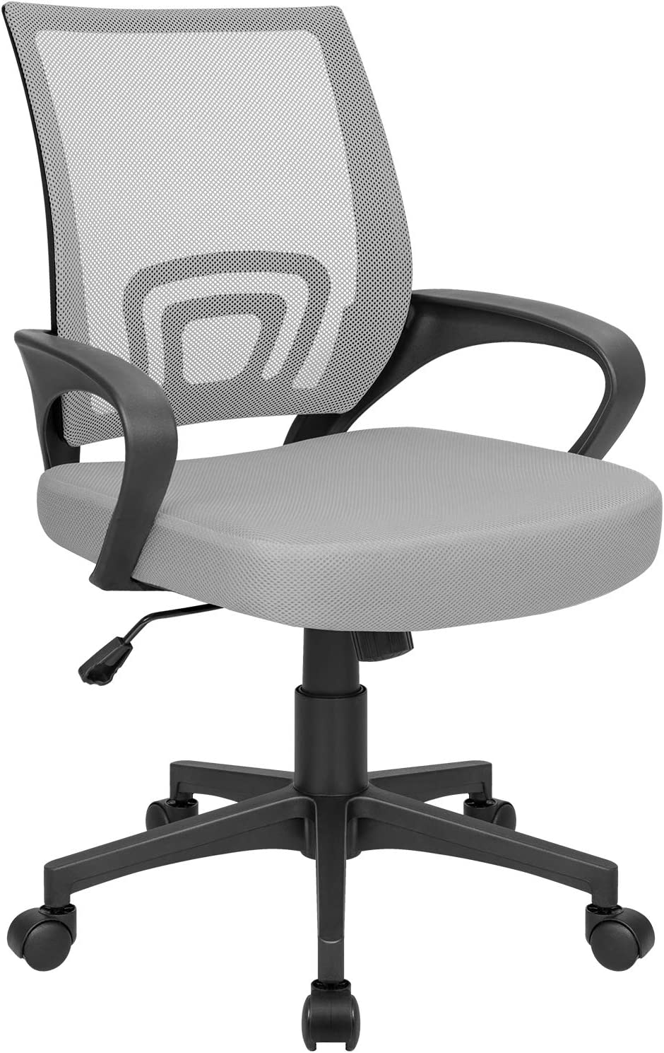 Homall Office Mid Back Computer Ergonomic Desk Chair, Grey