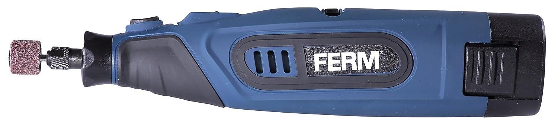 FERM Outil rotatif multifonctions /à batterie 12 V//1.5 Ah Incl Li-Ion 45 Acccessoires
