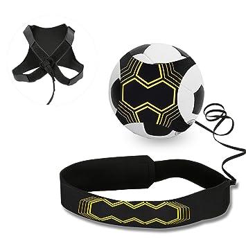 3ce64aeaf4 Ceinture d'entraînement pour football, Mopalwin Ballon de football  d'entraînement avec élastique