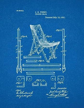 Superb Amazon Com Folding Chair Patent Print Blueprint 20 X 24 Evergreenethics Interior Chair Design Evergreenethicsorg