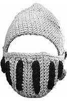 ローマ騎士 戦士 風 ニット帽 ナイト ニット キャップ ヘルメット 型 ハロウィン 仮装 仮面 帽子 男女 共用 大人 子供 用 (大人用 グレー)