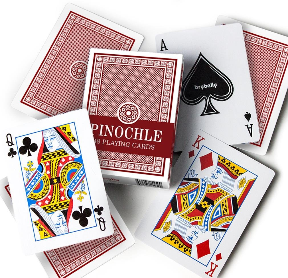 Brybelly Pinochle Playing Cards (Pack of 12), Red/Blue by Brybelly (Image #2)