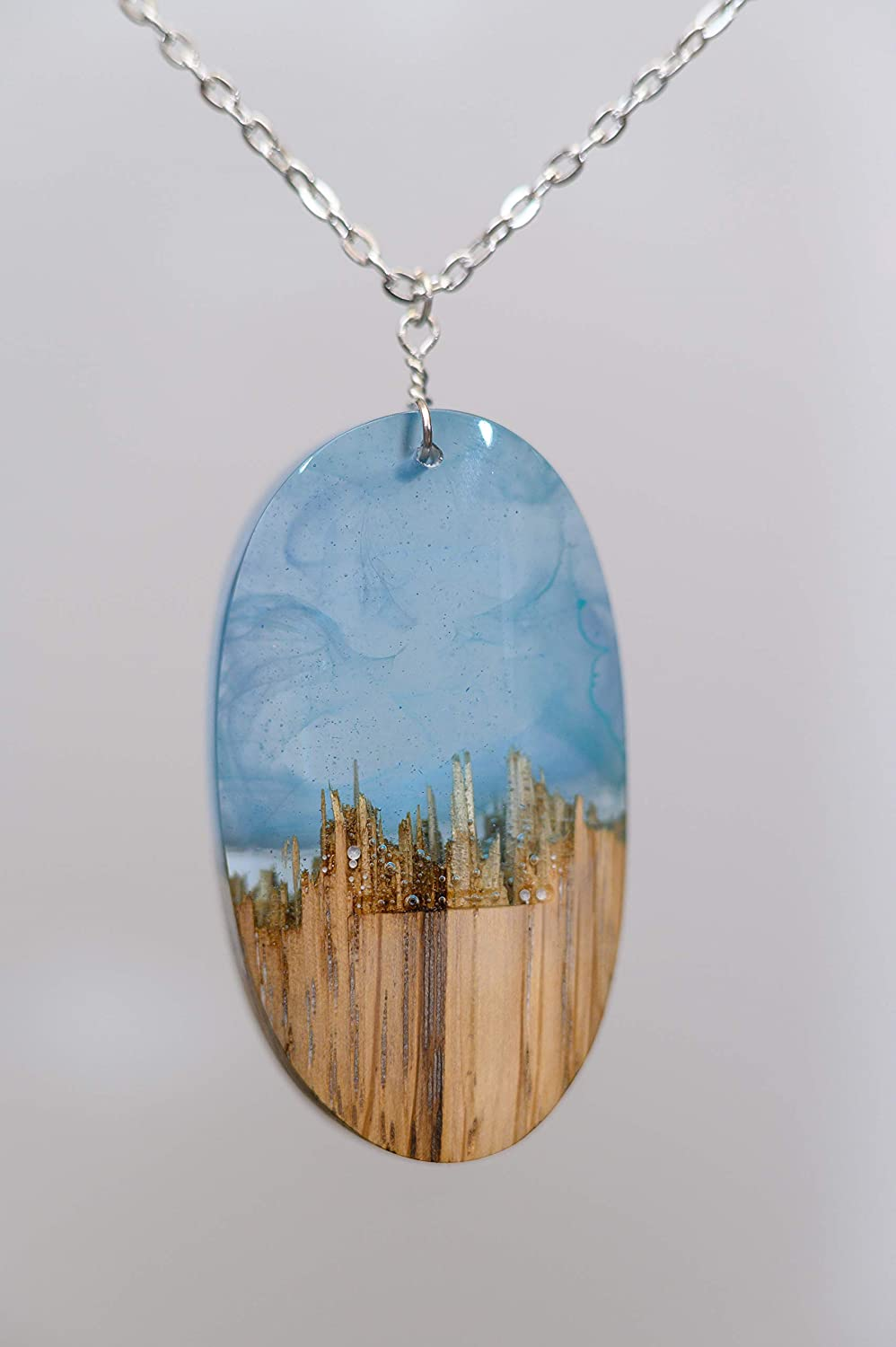 Necklace Day /& Night mountain Pendant