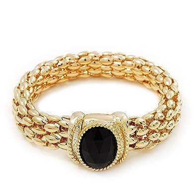 Avalaya Gold Plated Mesh Chain Flex Bangle Bracelet lPwvdmw