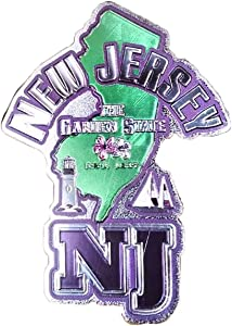 New Jersey The Garden State Souvenir Exclusive Refrigerator Foil Magnet