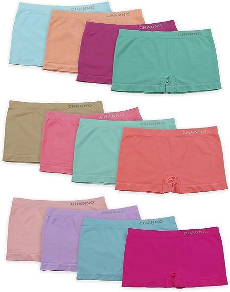 Chazleeily 4 Pezzi Mutandine Bambina Ragazze Mutande Intimo per Bambini Mutande in Cotone Morbido Pantaloncini per Ragazze Taglia 2-11 Anni