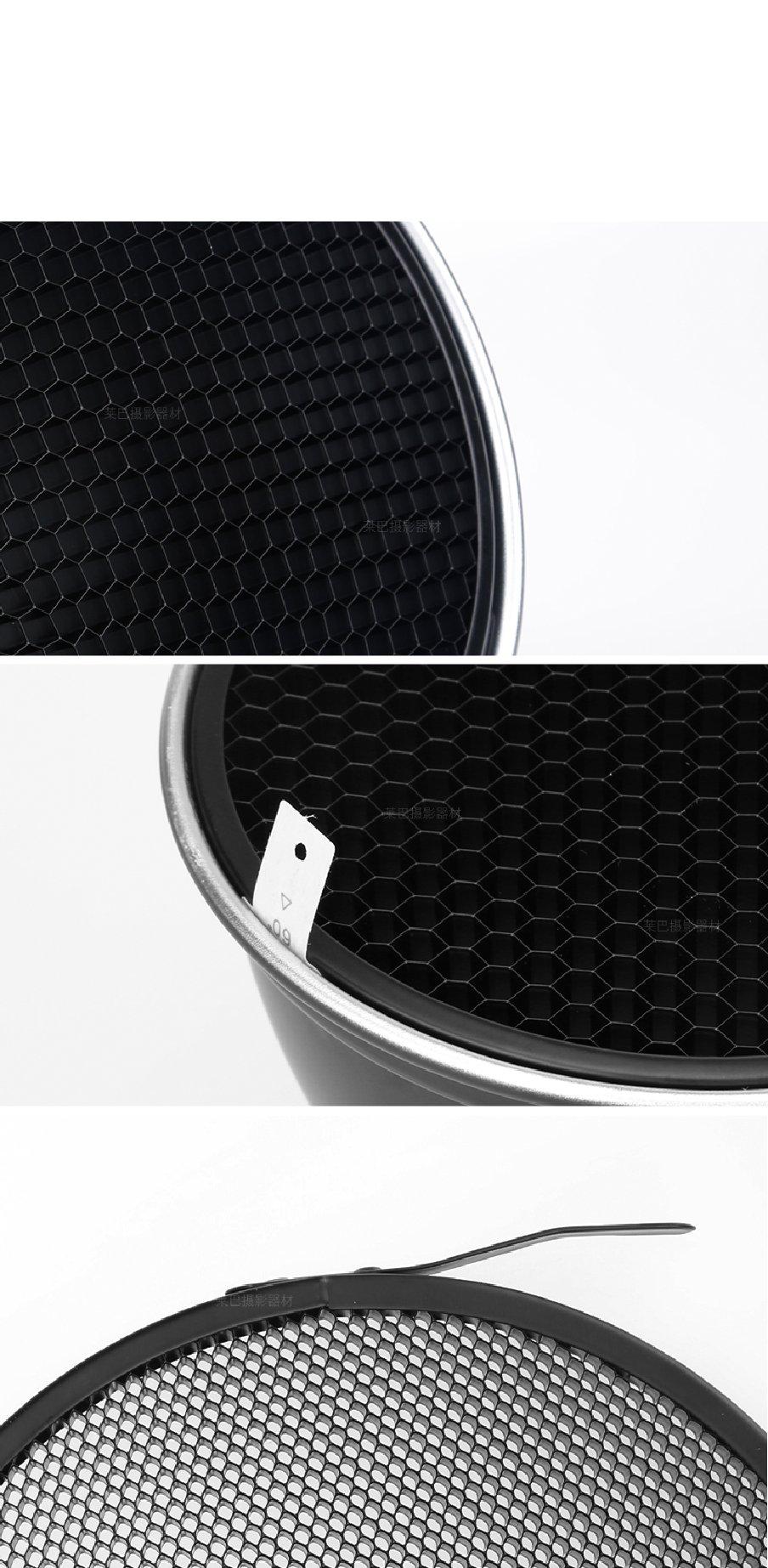 Godox Standard Reflector 7''/18cm Diffuser with 20/40/60 Degree Honeycomb Grid for Bowens Mount Studio Light Strobe Flash by Godox (Image #5)