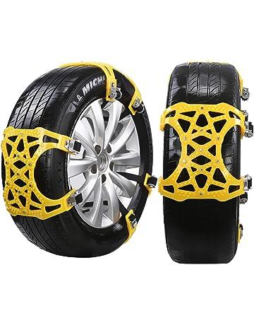 DINOKA Cadena de Nieve, 6er Universal Cadenas Coche Antideslizante de Neumático de Nieve Chains para