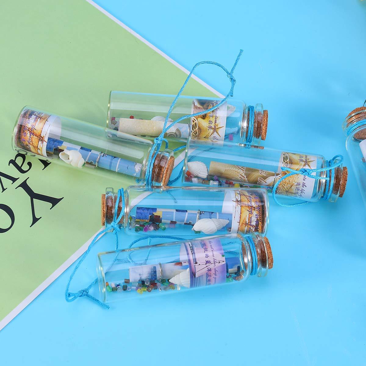 SUPVOX Mini Wish Bottles - Vasos pequeños con tapón de corcho (12 ...