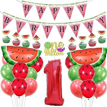 Kreatwow Sandía 1er cumpleaños Decoraciones One In A Melon ...