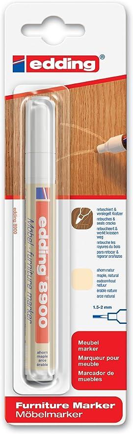 edding e-8900-1-4623 - Marcador para retocar muebles color Arce natural, Retoca y repara arañazos y desperfectos