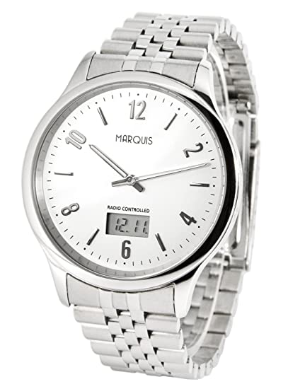 Reloj de hombre elegante Marqués (alemán Funkwerk) caja y brazalete de acero inoxidable 964.4712: Amazon.es: Relojes