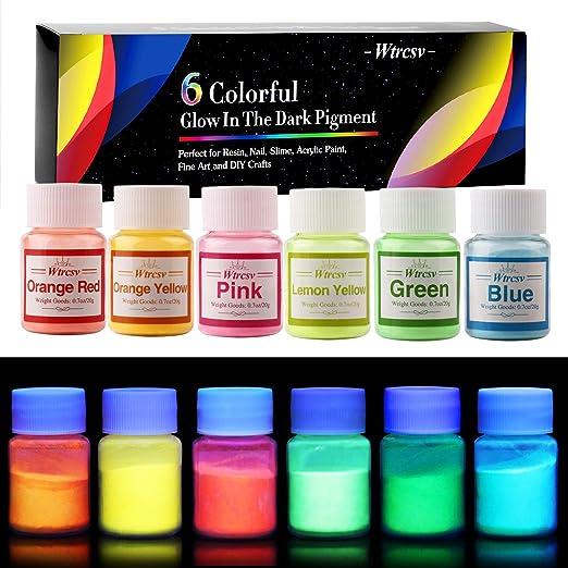 10g Paint Pigment Dye Fluorescent BLUE Luminous Glow in the Dark Powder