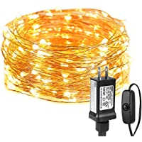 LE LED String Lights, 10M 33ft Waterproof Copper Wire Fairy String Lights with100 LEDs, 3000K Warm White Decorative…