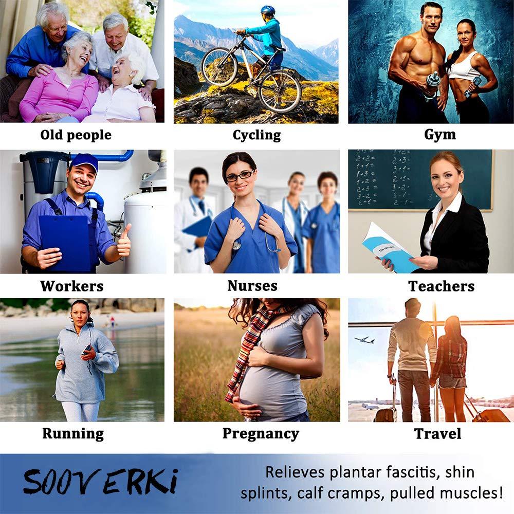 Wandern SOOVERKI Kompressionsstr/ümpfe f/ür Damen und Herren Reisen und Flugreisen. Durchblutung und Erholung f/ür Laufen Stillen