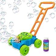 ArtCreativity Bubble Lawn Mower - Electronic Bubble Blower Machine - Fun Bubbles Blowing Push Toys for Kids - Bubble Solutio