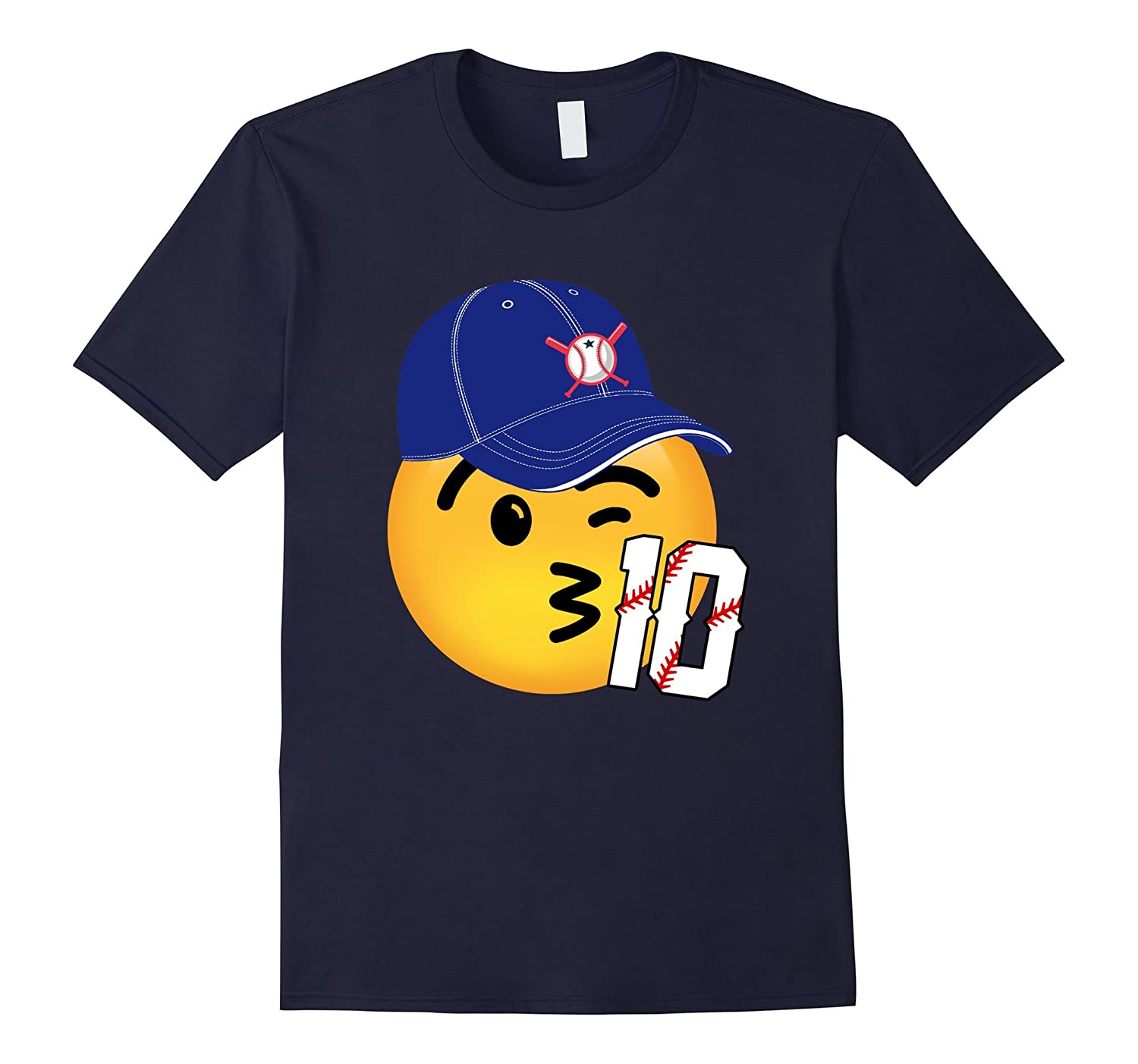 10th birthday baseball emoji shirt-CD