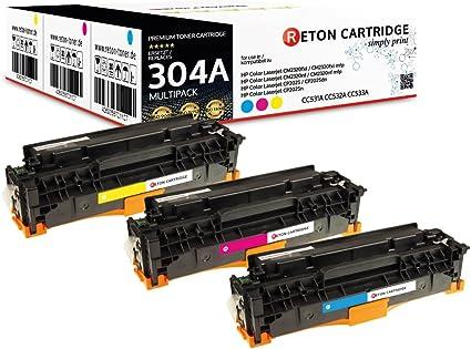 3 Original Reton Toner Kompatibel Nach Iso Norm 19798 Ersetzt Hp 304a Cc531a Cc532a Cc533a Für Hp Color Laserjet Cm2320fxi Mfp Hp Color Laserjet Cm2320nf Mfp Cp2025dn Cp2025n Cp2025 Bürobedarf