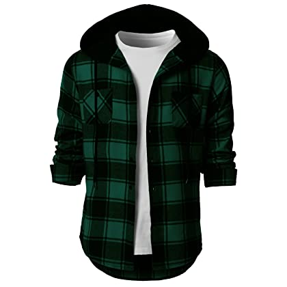 3ef00dae67912 ... H2H Men s Long Sleeve Button Down Cotton Plaid Casual Shirts Green US M  Asia L ...