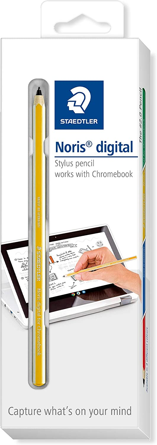 STAEDTLER yellow Noris digital for Chromebook EMR stylus, fine touchscreen pencil with a 0.7 mm tip, 18022G-1