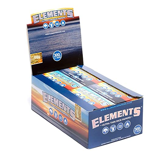Amazon.com: ELEMENTS ROLLING PAPERS 300 300 LEAVES UNFLAVORED FLAVOR PACK OF 20: Health & Personal Care