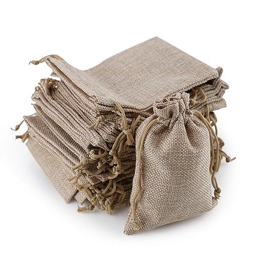 Bolsitas de yute, SOG Reat joyas bolsa con cordón Natural ...