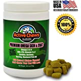 Active Chews Pure Omega Fish Oil for Dogs All Natural Omega 3 for Dogs Skin and Coat Supplement - Helps with Dog Dry Skin, Immune and Heart Health - 120 Dog Treats