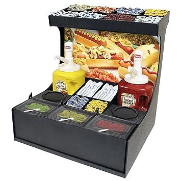Condimentos Organizador para Ketchup, mostaza y más. Extraíble fresco con tapa condimento Caja con