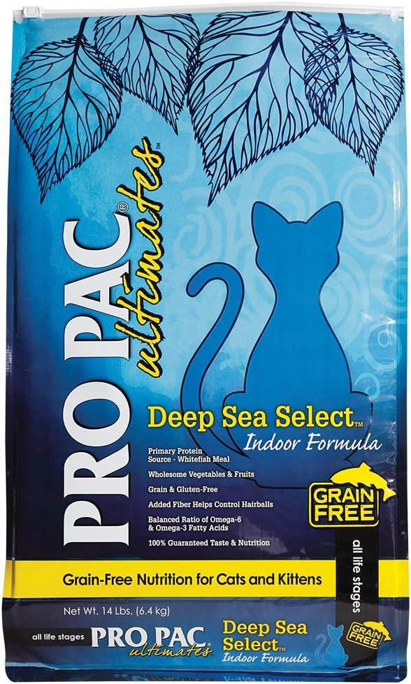 Pro Pac Ultimates Deep Sea Select Grain Free Dry Cat Food, 14 Lb.