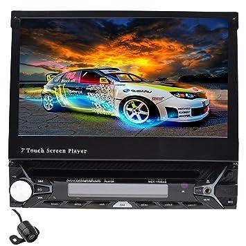 """7 """"desmontable pantalla táctil bluetooth coche GPS individual 1 DIN coche estéreo con DVD"""