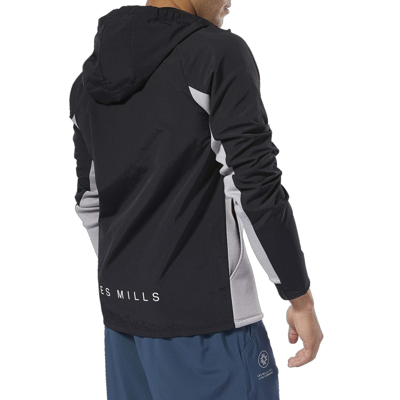 Reebok Herren Les Mills Full Zip Hoodie Kapuzenpullover