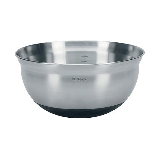 13 opinioni per Brabantia Mixing Bowl Ciotola Graduata con Base in Silicone, 3 L, Diametro 26