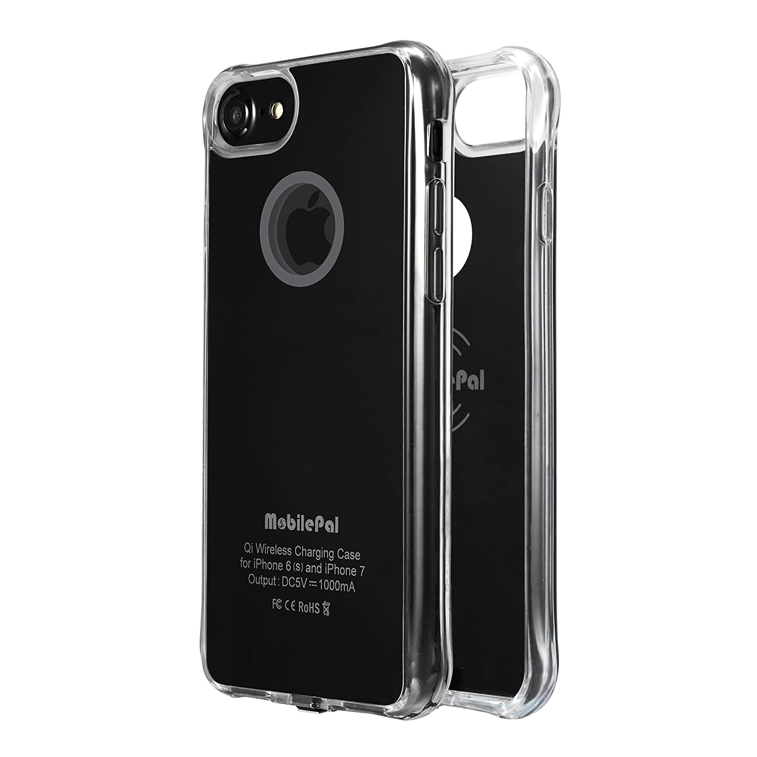 Amazon.com  MobilePal Qi Wireless Charging Case for iPhone 7 and iPhone 6(s)   New 2017 Model  (Black)  Cell Phones   Accessories 47717baa8ea85