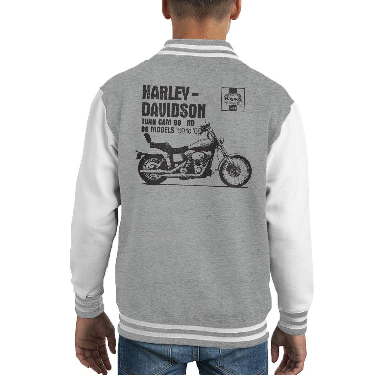 POD66 Haynes Owners Workshop Manual 2478 Harley Twin CAM 88 ND Kids Varsity Jacket