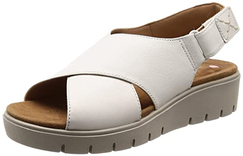 8019039f35446 Clarks Women s Un Karely Hail White Leather Fashion Sandals-3.5 UK India (36