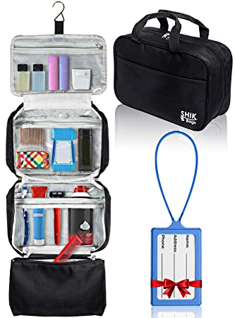 53879f1c452d Amazon.com : Premium Hanging Toiletry Bag Travel Kit For Women And ...