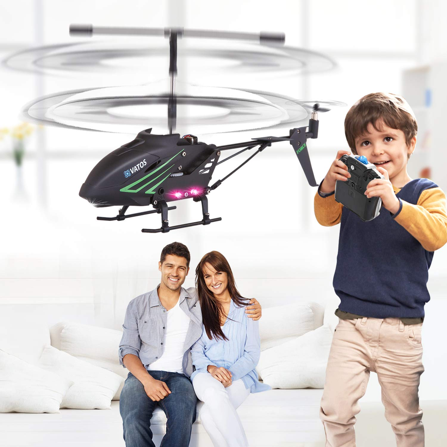 RC Helicopter, Remote Control Helicopter with Gyro and LED Light 3.5HZ Channel Alloy Mini Helicopter Remote Control for Kids & Adult Indoor Outdoor Micro RC Helicopter Best Helicopter Toy Gift by VATOS (Image #8)